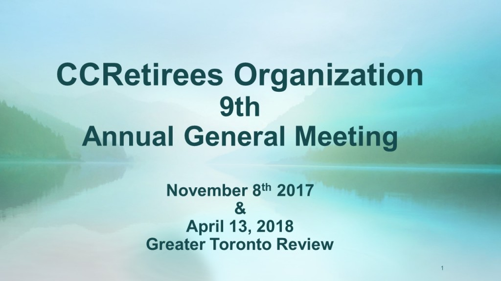 Greater Toronto Area - General Meeting